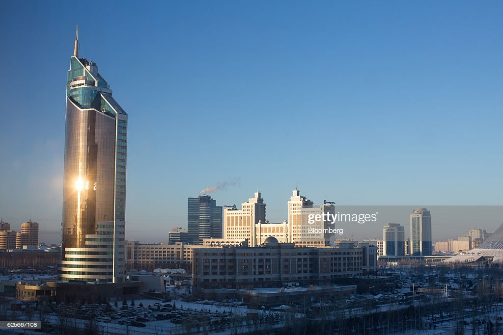 Views Of The Kazakh Capital And Retail Operations Amid Economic Downturn : News Photo