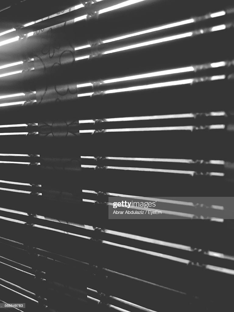 Sunlight Streaming Through Window Blinds : Stock Photo