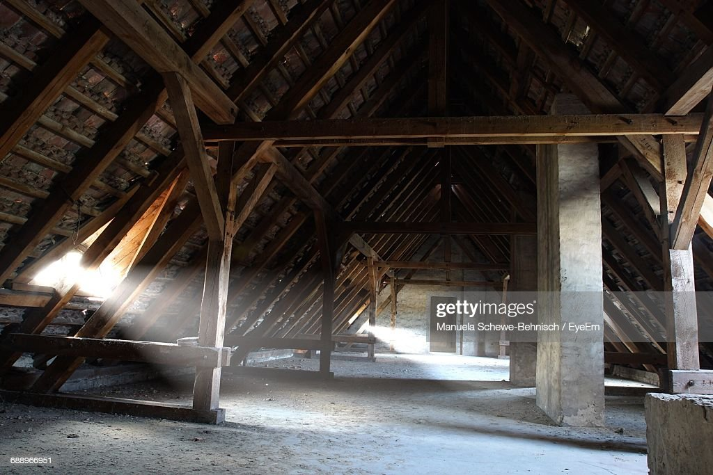 Sunlight Streaming Through Window In Attic  Stock Photo & Sunlight Streaming Through Window In Attic Stock Photo | Getty Images