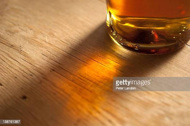 Sunlight through a whisky bottle