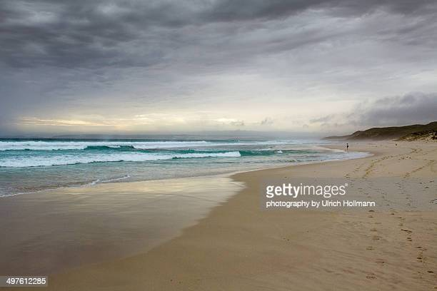 Sunlight through clouds at beach, Esperance