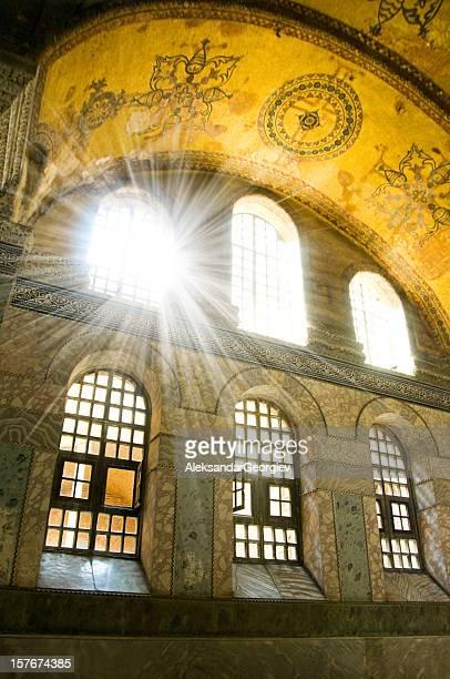 Sunlight through luxury palace window
