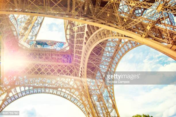 Sunlight under Eiffel Tower, Vintage