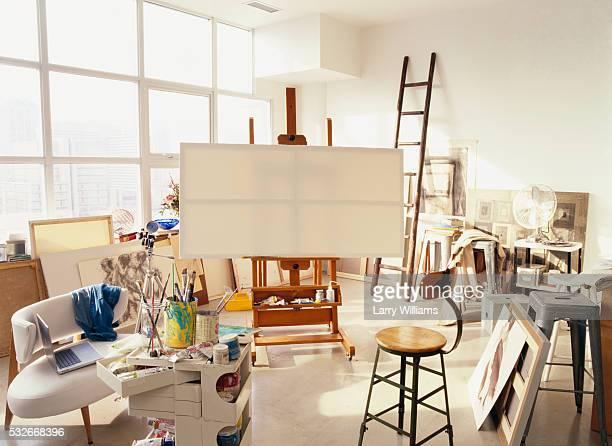 Sunlit Artist's Studio