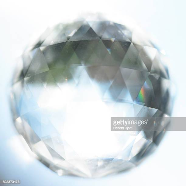 Sunlit faceted crystal