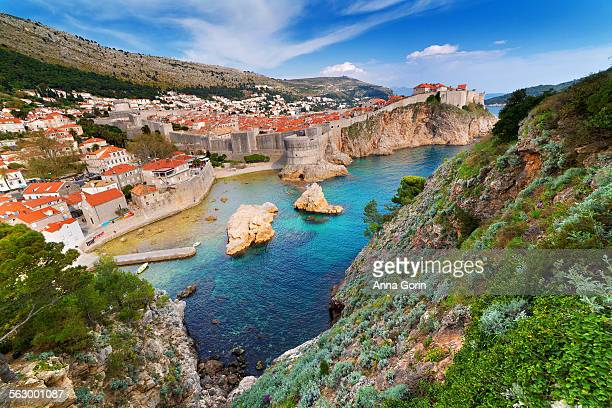 Sunlit Old City waterfront, Dubrovnik, Croatia