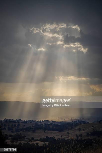 Sunlit valley, Upper Goulburn Valley Victoria