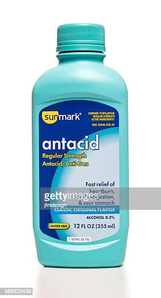 sunmark antacid regular strength bottle - heartburn stock photos and pictures