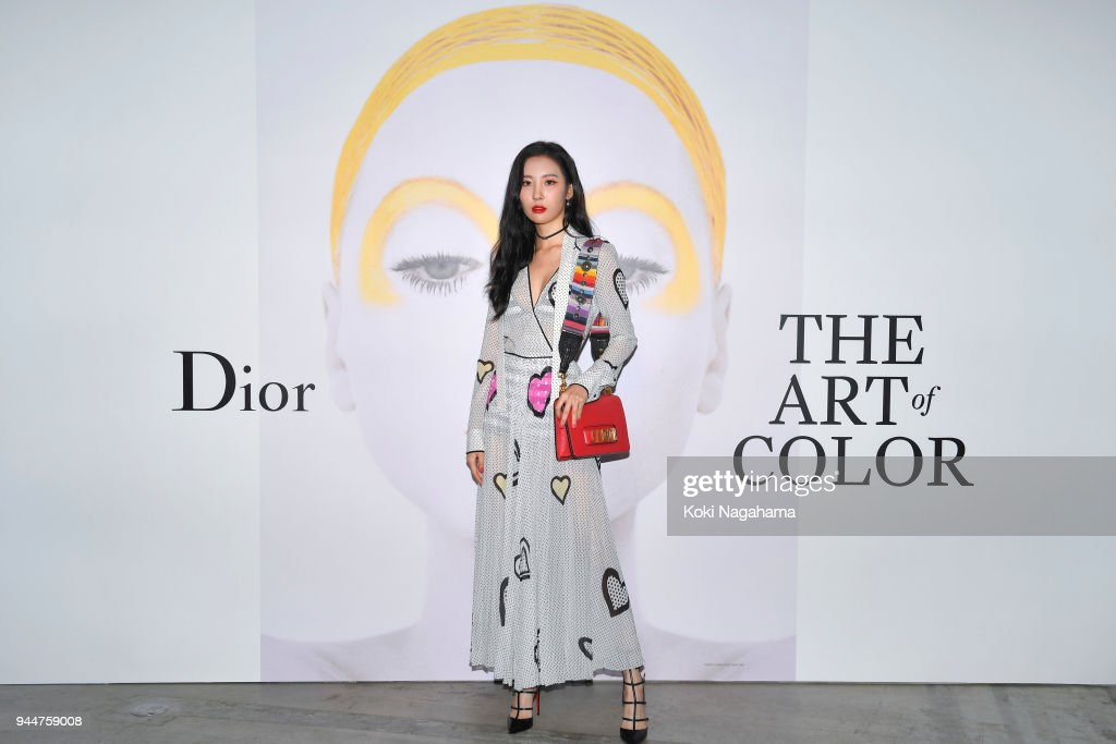 Sunmi attends Dior's The Art of Color Press Preview on April 11, 2018 in Tokyo, Japan.