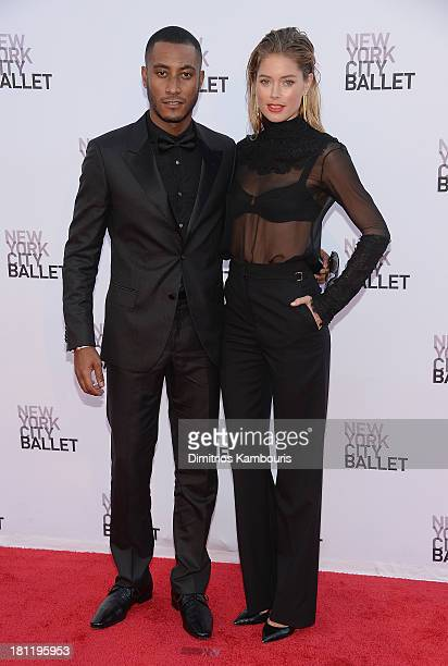 Sunnery James and Doutzen Kroes attend New York City Ballet 2013 Fall Gala at David H Koch Theater Lincoln Center on September 19 2013 in New York...