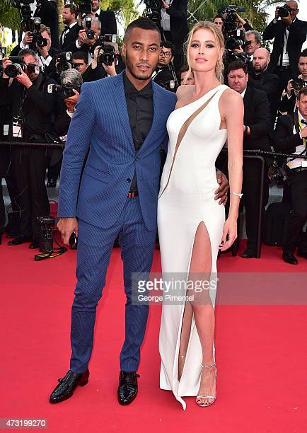 Sunnery James and Doutzen Kroes attends the opening ceremony and premiere of 'La Tete Haute during the 68th annual Cannes Film Festival on May 13...