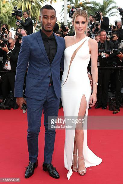 Sunnery James and her husband model Doutzen Kroes attend the opening ceremony and premiere of 'La Tete Haute' during the 68th annual Cannes Film...