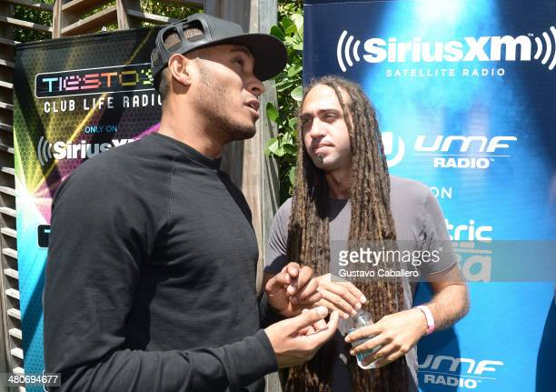Sunnery James and Sultan attend SiriusXMÕs 'UMF Radio' And Tiesto's Club Life Radio at the SiriusXM Music Lounge at W South Beach Hotel on March 26...
