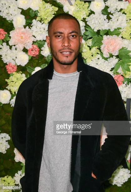 Sunnery James attends a personal appearance at Holt Renfrew flagship store on April 13 2018 in Toronto Canada