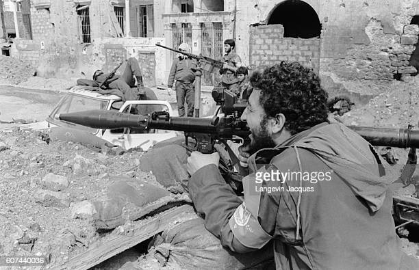 Sunni Mourabioun soldiers still hold positions in Beirut, Lebanon, shortly before the 1984 withdrawal of the Multinational Forces. In 1975, Lebanon...