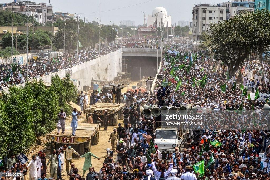 PAKISTAN-RELIGION-PROTEST : News Photo