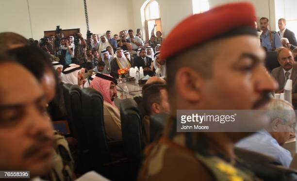 Sunni Sheikhs, tribal leaders and military officials attend a summit September 6, 2007 in Ramadi, Anbar Province, Iraq. Iraq's central government...