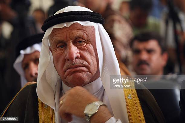 Sunni tribal leader listens at a development meeting between Iraqi and American government officials and Sunni sheikhs September 6, 2007 in Ramadi,...