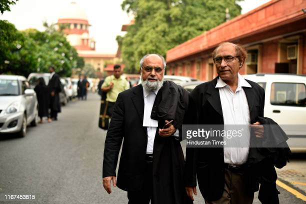 Sunni Waqf Board Lawyer Shakeel Ahmed leaves after the hearing on Ayodhya land dispute case at Supreme Court on September 11 2019 in New Delhi India
