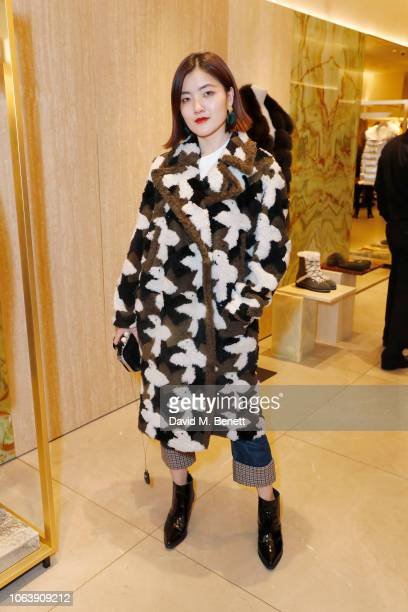 Sunnie Sun attends the launch party to celebrate the opening of Yves Salomon's London boutique on November 05, 2018 in London, England.