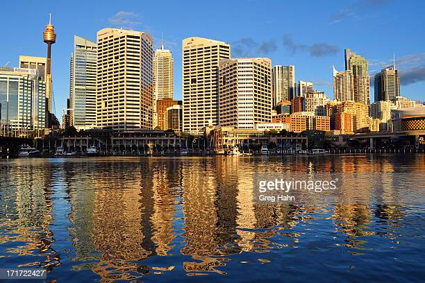 Sunny afternoon after some rain - happy to get good light. Darling Harbour Sydney looking into the city itself.