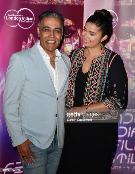 """Sunny and Shay Grewal attends """"WOMB """" Screening and Opening Gala during London Indian Film Festival 2021 at BFI Southbank on June 17, 2021 in London,..."""