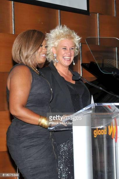 Sunny Anderson and Anne Burrell attend 2nd Annual GLAAD Media Awards in Advertising at Grand Hyatt New York on September 29 2010 in New York City