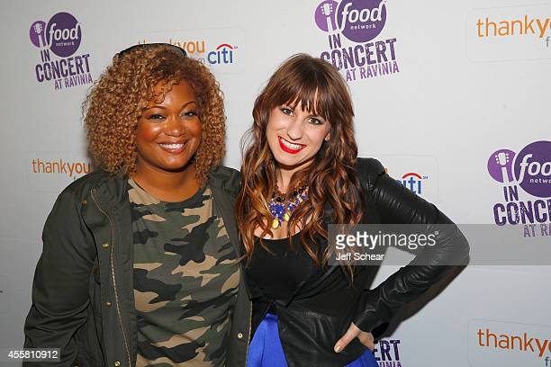 Sunny Anderson and Caitlyn Smith pose at Food Network in Concert on September 20 2014 in Chicago United States