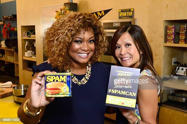 Sunny Anderson and Katie Chin host the KickOff of the SPAMERICAN National Food Truck Tour on Wednesday April 15th 2015 in Los Angeles in Los Angeles...