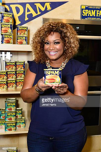 Sunny Anderson hosts the KickOff of the SPAMERICAN National Food Truck Tour on Wednesday April 15th 2015 in Los Angeles California