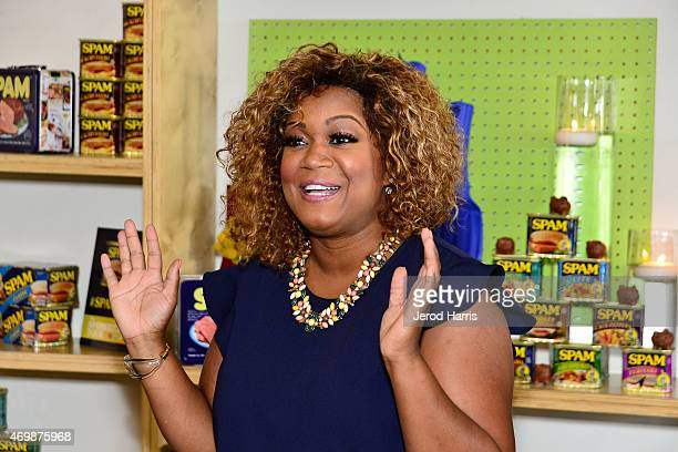 Sunny Anderson hosts the KickOff of the SPAMERICAN National Food Truck Tour on Wednesday April 15 2015 in Los Angeles California
