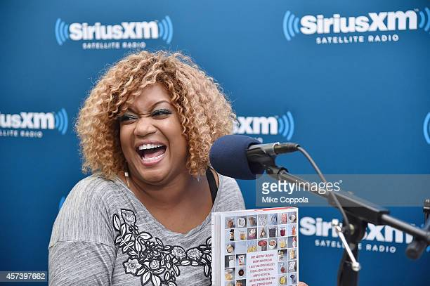 Sunny Anderson is interviewed during SiriusXM's Food Talk on October 17 2014 in New York City