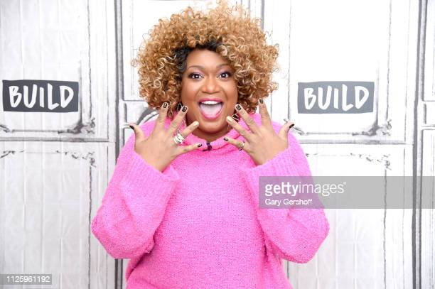 Sunny Anderson of The Food Network visits the Build Brunch at Build Studio on January 29 2019 in New York City