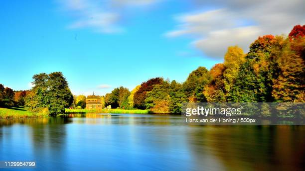sunny autumn day - drenthe stock pictures, royalty-free photos & images