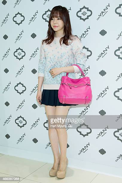 Sunny, bag detail, of South Korean girl group Girls' Generation attends the photocall for 'orYANY' Flagship Store Opening at Hyundai Department Store...