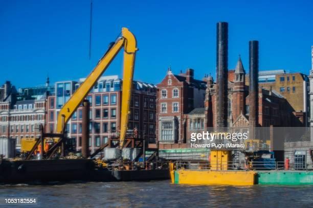 Sunny, Blue Sky Riverboat Skyline. City of London