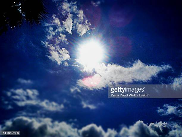 Sunny blue sky with clouds