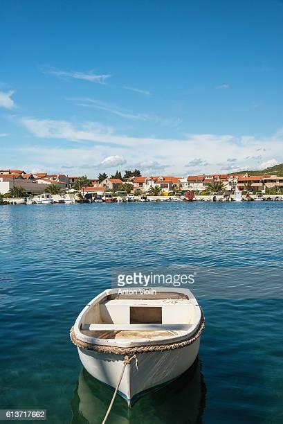 Sunny croatian harbor