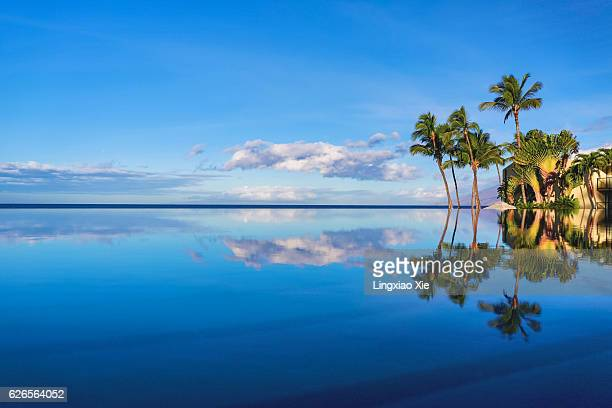 Sunny Day and Reflectiont at Wailea Beach, Maui, Hawaii