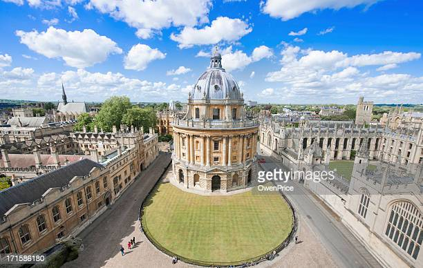sunny day at radcliffe camera, in oxford uk - oxford university stock pictures, royalty-free photos & images