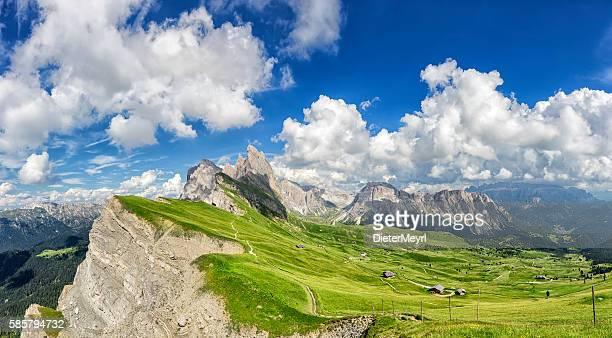 Sunny day at Seceda in south Tirol