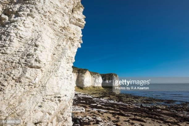 A sunny day at Selwicks bay, Flamborough, North Yorkshire coast