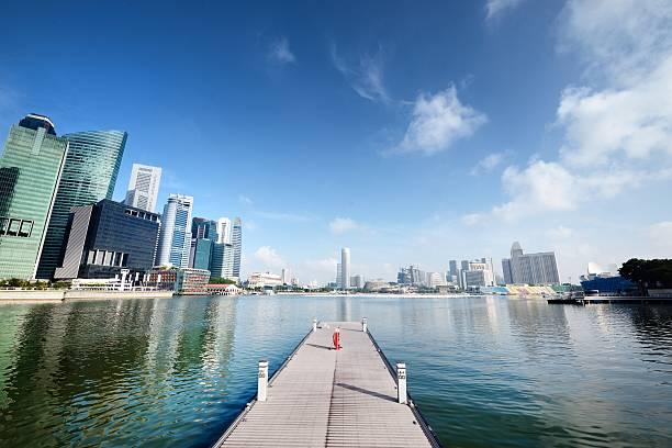 Sunny Day At Singapore's Marina Bay Wall Art