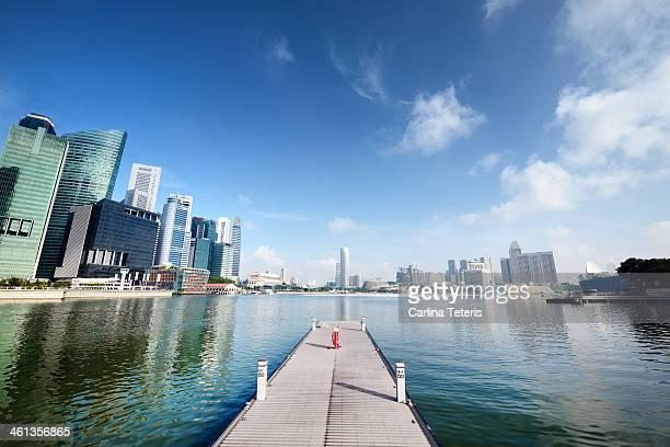 Sunny day at Singapore's Marina Bay