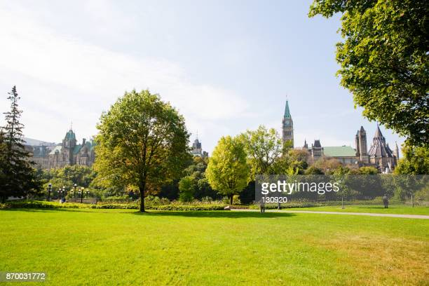 sunny day in the park - public park stock photos and pictures