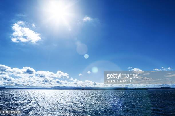 sunny day, the firth of fourth, scotland - blue stock pictures, royalty-free photos & images
