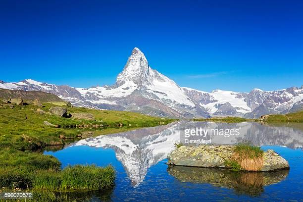 Sunny day with view to Matterhorn