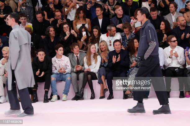 Sunny Hall a guest Nikolai von Bismarck Kate Moss with her daughter Lila Moss CEO of Dior Pietro Beccari and his wife Elisabetta Beccari attend the...