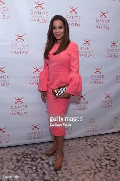 Sunny Hostin attends Dance Theatre of Harlem's 6th Annual Vision Gala at New York Park Hyatt on April 19 2017 in New York City