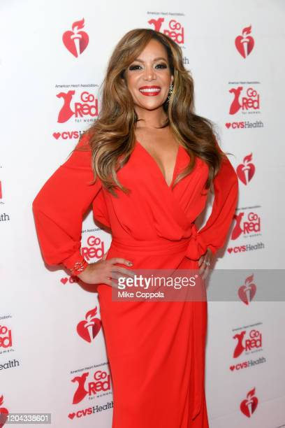 Sunny Hostin attends The American Heart Association's Go Red for Women Red Dress Collection 2020 at Hammerstein Ballroom on February 05 2020 in New...